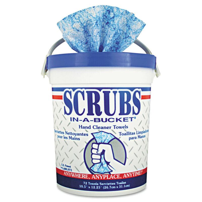 SCRUBS 42272EA 1 Bucket 10 x 12 in. Cloth Hand Cleaner Towels - Blue/White New