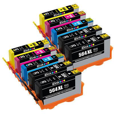 10PK Ink Cartridges (New Generation) For HP 564 XL  Officejet 4610 4620 4622