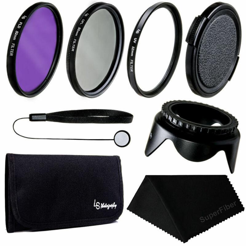 52mm Lens Filter UV CPL FLD Lens Accessory Kit for Nikon Canon DSLR Camera