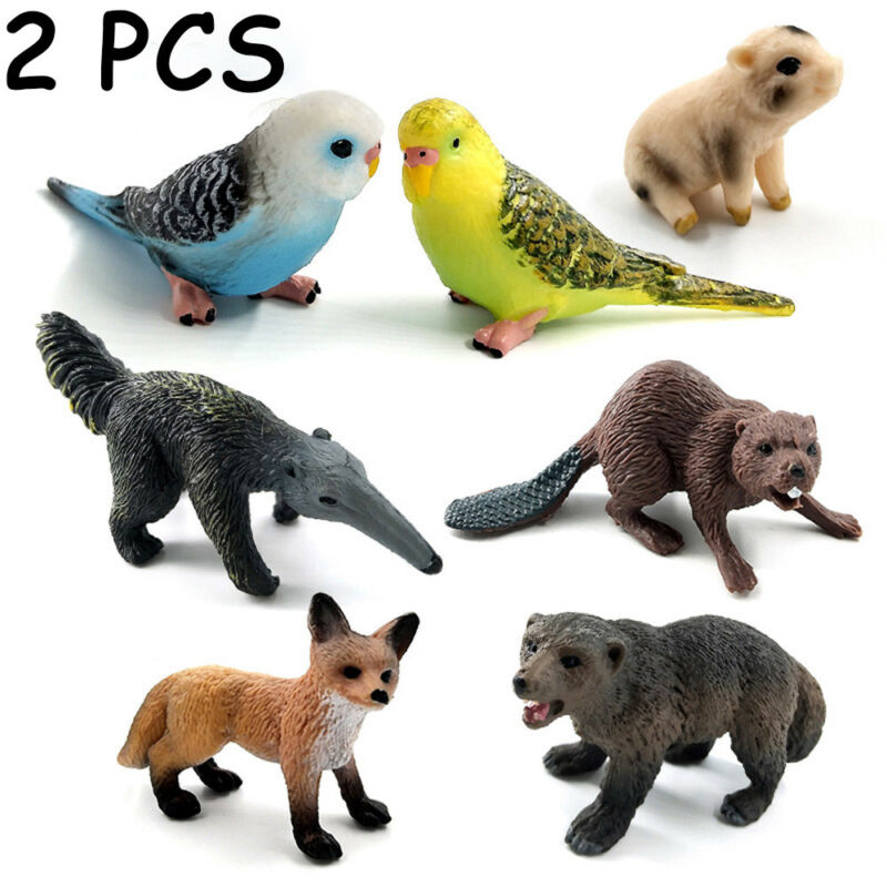 Animal Figurine Educational Model Fairy Garden Decor Miniature Zoo Series