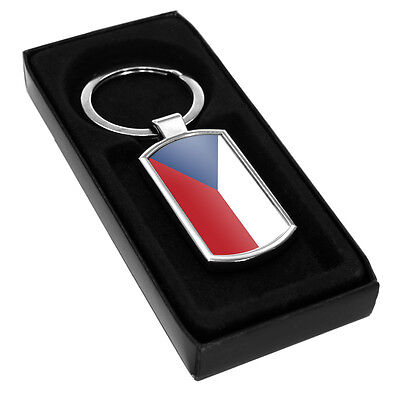 Czech Republic Flag Metal Keyring 054 holiday travel leaving party gift idea