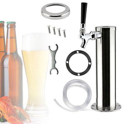 3 Single Stainless Steel Draft Beer Tower Home Brew Kegerator Beer Keg Tap