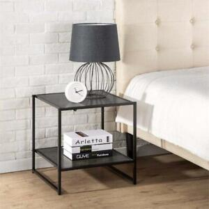 NEW Zinus Modern Studio Collection 20 Inch Square Side / End Table / Night Stand / Coffee Table, Espresso Condtion: N...
