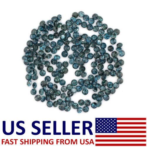 Natural Loose Diamond Round Blue Color I1 Clarity 0.70 to 1.10MM 100 Pcs