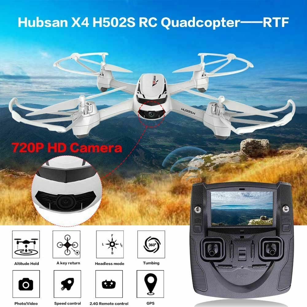 Hubsan X4 H502S FPV RC Quadcopter With 5.8G 720P HD Camera GPS Altitude Mode RTF