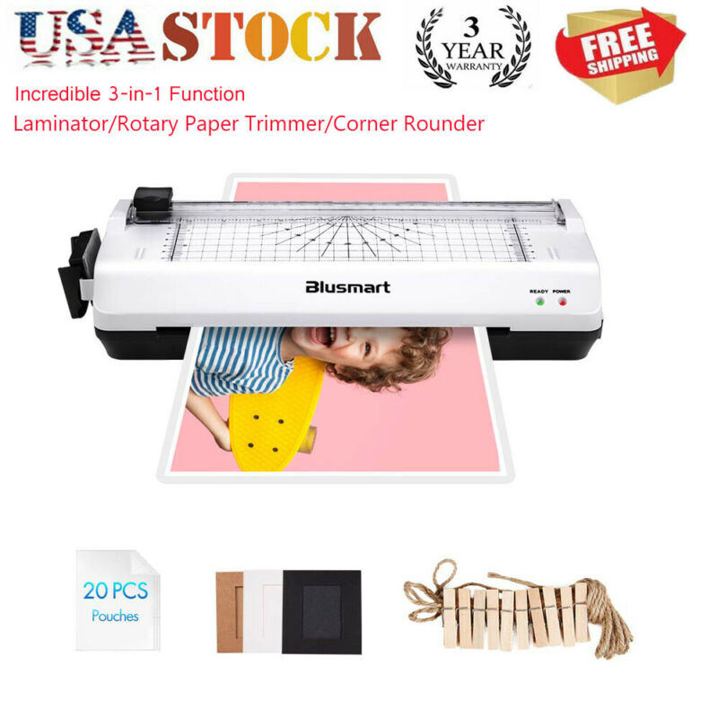 3 in 1 A4 Laminator Thermal Laminating Machine Home Office School 20 Pouches