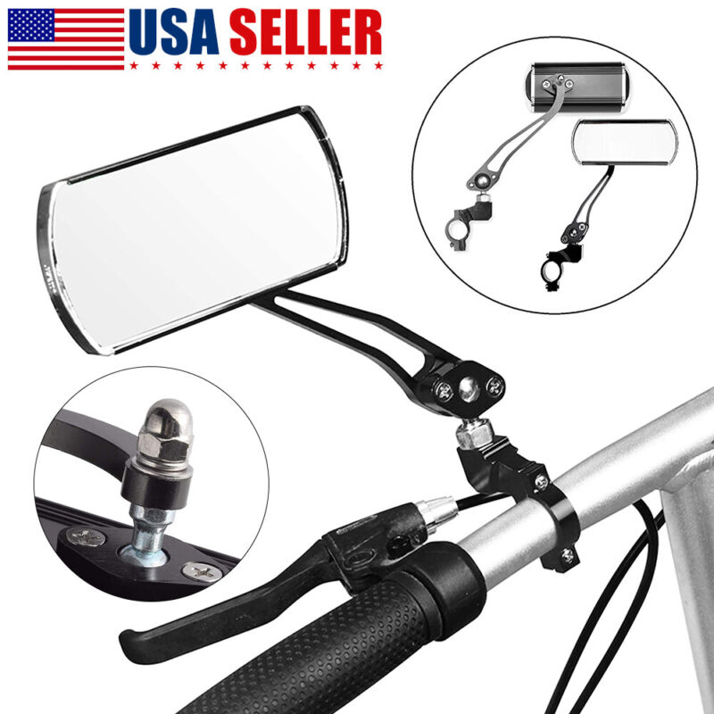 1 Pair Bicycle Rear View Mirror Cycling Bike Handlebar Safety Rearview Universal