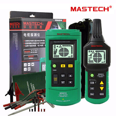 Mastech Ms6818 Professional Acdc 12v400v Wire Cable Tracker Metal Pipe Locator