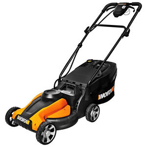 Worx WG775 24V Cordless 14 in. Rear Discharge Electric Lawn