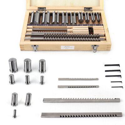 18pc Keyway Broach Kit Collared Bushing Shim Set Inch Size Metalworking Tool Usa