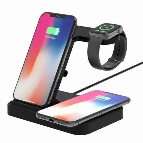 US 5 in1 Qi Wireless Charger For iWatch 5 4 Airpods Pro/2 iP