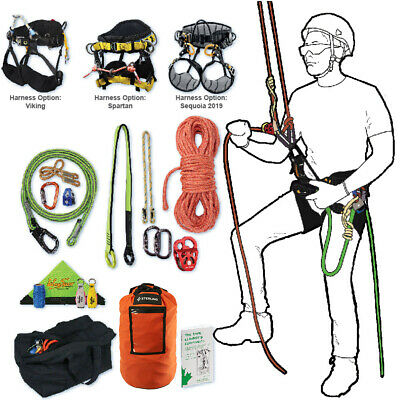 Tree Climbing Rope Kit Deluxe W Spartan Saddle 150 Rope Flipline More