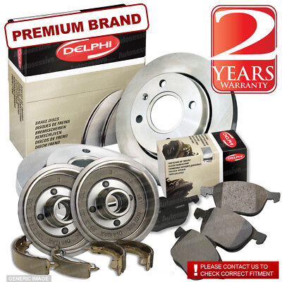 Citroen Saxo 1.1 Front Brake Discs Pads 247mm Rear Shoes Drums 203mm 60BHP 96-On