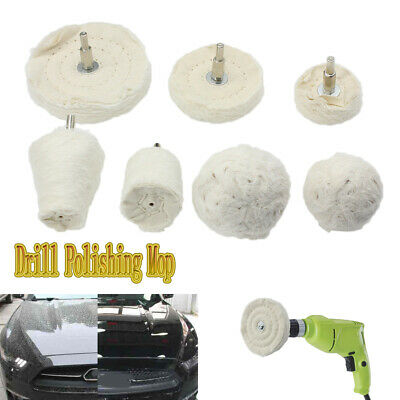 7x Kit Buffing Pad Polishing Mop Wheel Pads Rims For Drill Buffer Polish Wheels