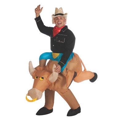 Adult Inflatable Bull Rider Costume Size Standard