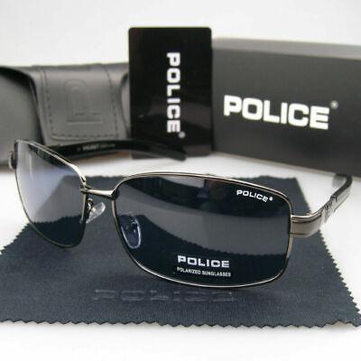New Men's Women's Polarized Sunglasses Metal Eyewear Police Driving (Police Glasses Men)