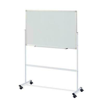 Mobile Whiteboard Magnetic Dry Erase Board 60 90cm Double Sided With Wheels Us