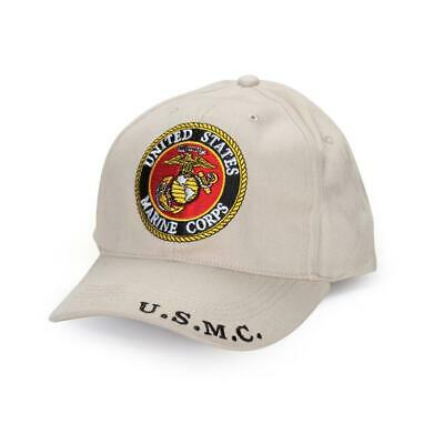 US Marine Corps Ball Cap EG&A Subdued Stone Khaki U.S.M.C. Desert Sand USMC Hat