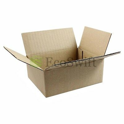 1-100 10x8x4 Ecoswift Cardboard Packing Mailing Shipping Corrugated Box Cartons