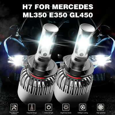 400W 40000LM H7 LED Headlight Kit Bulbs High-Low Beam Bulb CREE 6500K Lamp White
