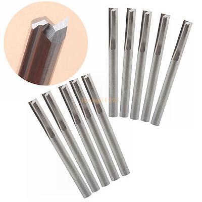 Double Flute Straight Router (10pcs Double Flute Straight Slot Carbide Cutters CNC Router Bits 3.175 * 12mm)