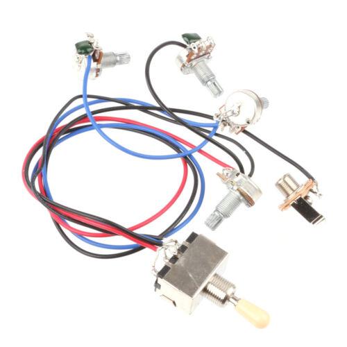 wiring harness 3 way toggle switch 2v2t 500k pots jack. Black Bedroom Furniture Sets. Home Design Ideas