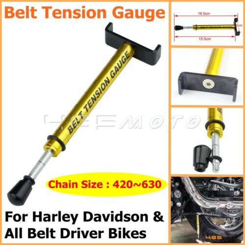 Motorcycle Bike Tool Belt Tension Gauge Adjustable Tensioner For Harley Davidson
