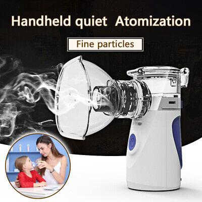 Portable Travel Nebulizer Inhaler Ultrasonic Respirator Mesh Rechargeable 5-8ML