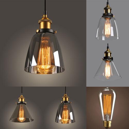New Modern Vintage Industrial Retro Loft Glass Ceiling Lamp