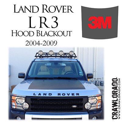 Land Wanderer LR3 and LR4 Hood Blackout Decal Sticker