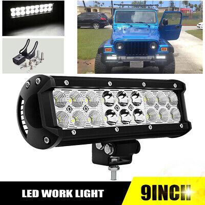 10inch Led Work Light Bar Spotflood Combo Beam Driving Tractor Atv Suv 12v 9
