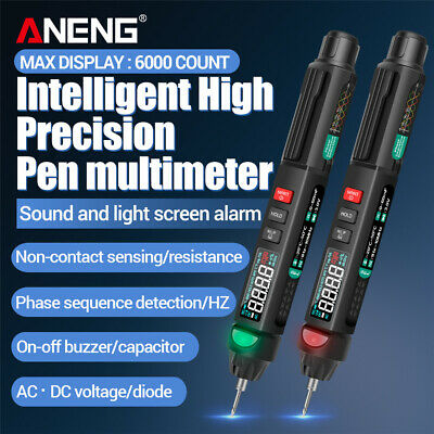 Digital Multimeter Tester Pen Ac Dc Volt Ohm Amp Clamp Meter Auto Range Lcd