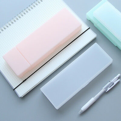 Creative Transparent Plastic Pencil Case Pen Box Kid Gift Office School - Plastic Pencil Case
