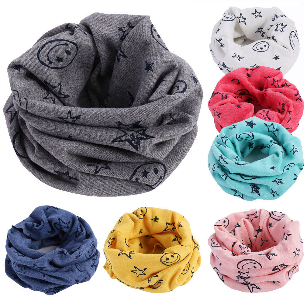 Multicolor Children Warm Cotton Scarf Boy Girl Scarf Shawl Winter Neckerchie tg