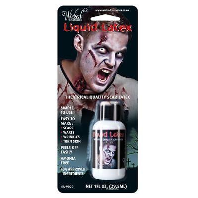 bie Bottle Fancy Dress Halloween Makeup Wound Scars Wrinkles (Liquid Latex Halloween Zombie)
