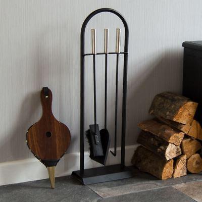 4 Piece Arc Fire Companion Set Fireplace Fireside Tools Modern By Home Discount