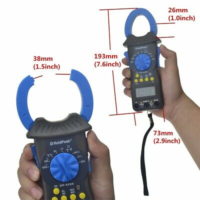 Digital Clamp Multimeter Tester Meter Equipment Industrial Lcd Display Ac Dc