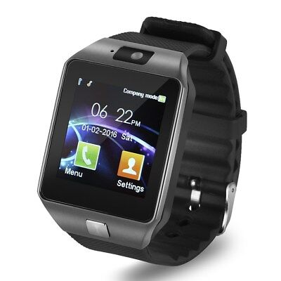Bluetooth Smart Watch With Camera SIM Card Slot Smartwatch UK