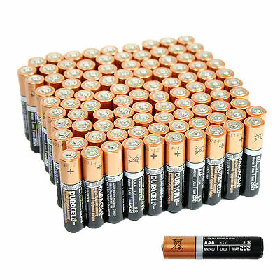50 AAA Duracell Alkaline Batteries -DURALOCK Version - FRESH 2021 DATE