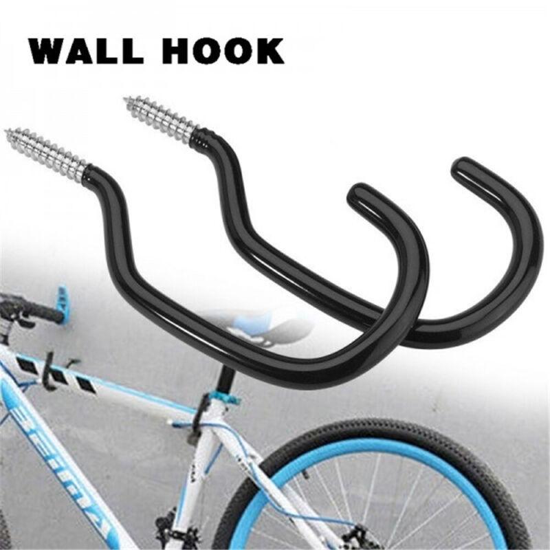 Black Wall Mount Cycle Hanging Bicycle Bike Storage Hook Hooks Brackets Hanger