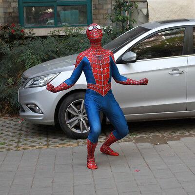 Raimi Red Spiderman Cos Costume Superhero Spider-Man Full Body 3D Print - Spider Man 3 Costume