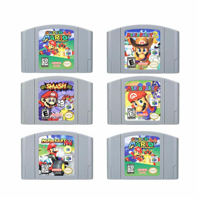 Super Smash Bros Video Game Cartridge Console Card For Nintendo N64 Mario Kart