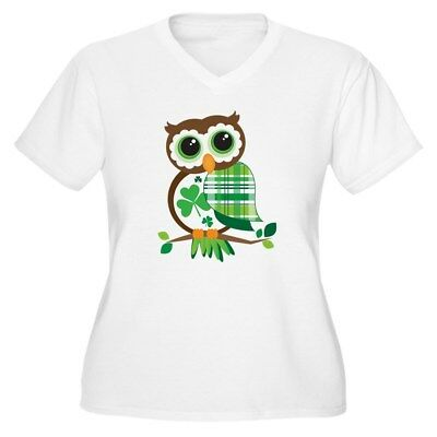 CafePress St Patrick's Day Owl Plus Size T Shirt Plus Size VNeck (1479249298) - Plus Size St Patrick's Day Shirts