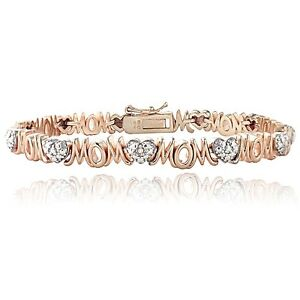 Genuine-Diamond-Accent-Heart-and-MOM-Tennis-Bracelet-in-Rose-Gold-Tone