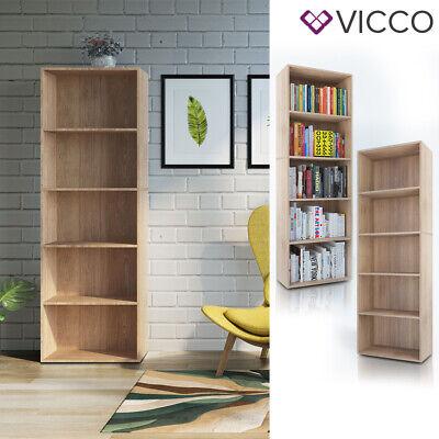 VICCO Bücherregal EASY XXL Sonoma Eiche Wandregal Aktenregal Schrank Büro