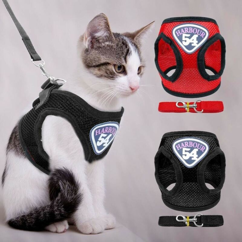 Cat Harness Clothes Jacket Mesh Puppy Kitten Pug Vest Walkin