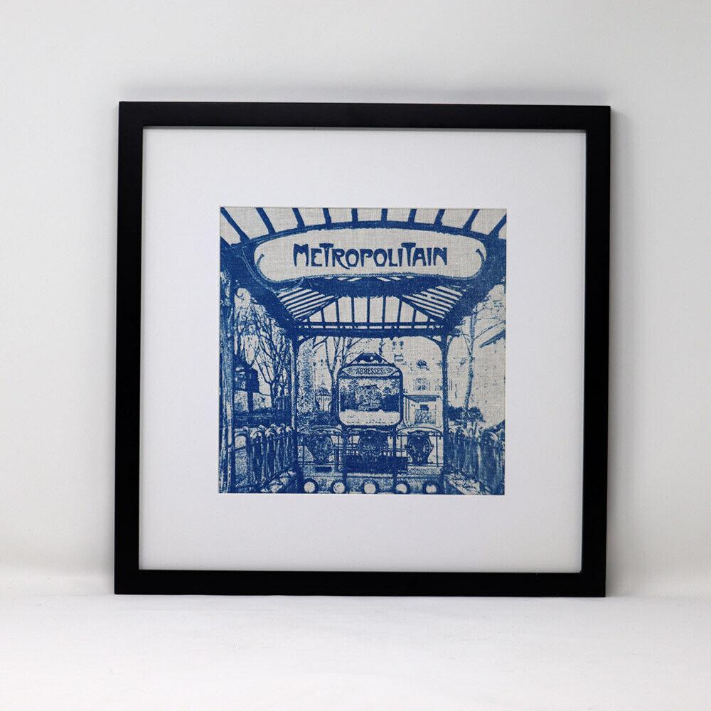 Art Nouveau Abbesses M tro Station In Paris Cyanotype Hemp/Muslin - $75.00