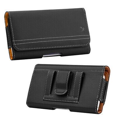 Luxmo Horizontal Belt Clip Universal Cell Phone Leather Case Pouch Card Holster
