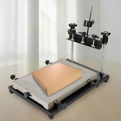 Pcb Smt Adjustable Manual Stencil Printer 440 X320mm Solder Paste Printer 120mm