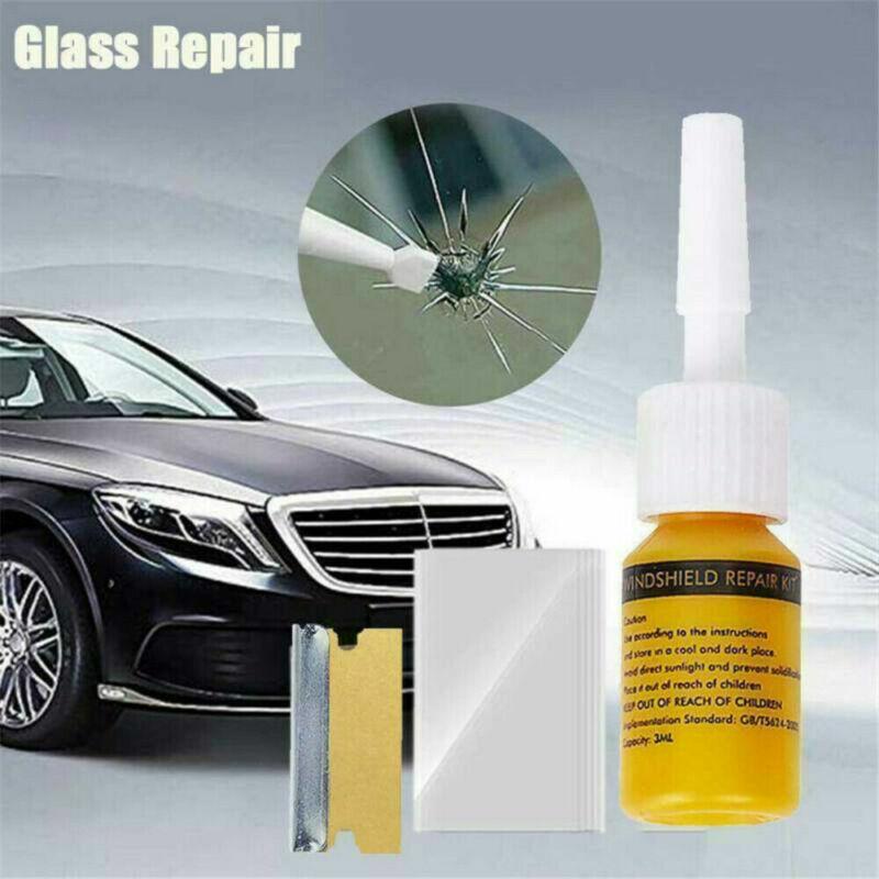 Automotive Glass Car Windshield Crack Repair Kit Resin Window Nano Liquid Tools